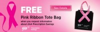"View the ""AAA FREE Pink Ribbon Tote Bag (Freebie)"" coupon page"