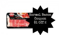 "View the ""Hormel $1 OFF any 2 Bacon Products (Printable Coupon)"" coupon page"
