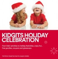 "View the ""KIDGITS FREE Holiday Celebration"" coupon page"