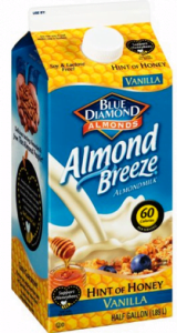 "View the ""Blue Diamond $1 OFF Chilled Almond Breeze Honey or Honey Vanilla Almondmilk (Printable Coupon)"" coupon page"