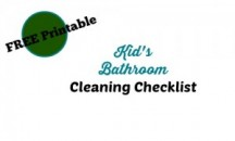 "View the ""Early Bird Mom FREE Kids Bathroom Cleaning Checklist (Freebie)"" coupon page"