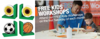 "View the ""Home Depot FREE Kids Workshop (Freebie)"" coupon page"