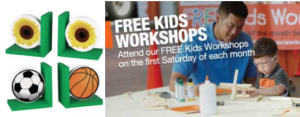 Home Depot & Lowe's Kid's Workshops