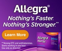 "View the ""Allegra Allergy 24-Hour FREE Sample (Freebies)"" coupon page"