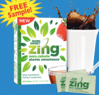 "View the ""Zing FREE Zero Calorie Stevia Sweetener Sample AND $1.50 OFF Coupon (Freebie)"" coupon page"